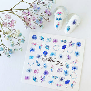 Slider.RF flower nail decals for RUssian manicures and pedicures