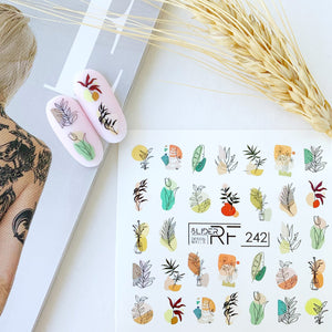 Slider.RF Leaf and feather nail decals