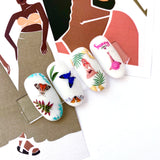 Examples of decals on swatches