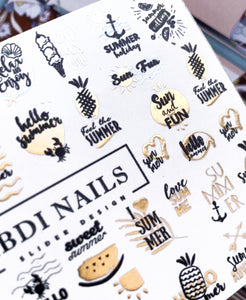 IBDI gold foil nail decals