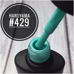 Haruyama Turquoise gel nail polish 429 for Russian manicures and pedicures