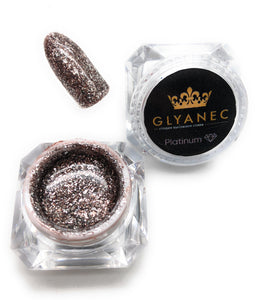 Glyanec red glitter gel nail polish