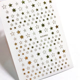 Gold stars for nail art