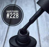 Haruyama Graphite black gel nail polish #228 for Russian manicures and pedicures