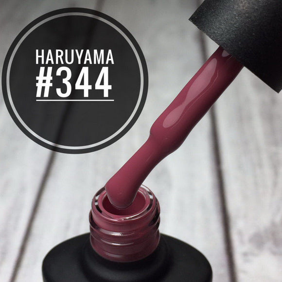 Haruyama 344 Mauve red gel nail polish for Russian manicures and pedicures