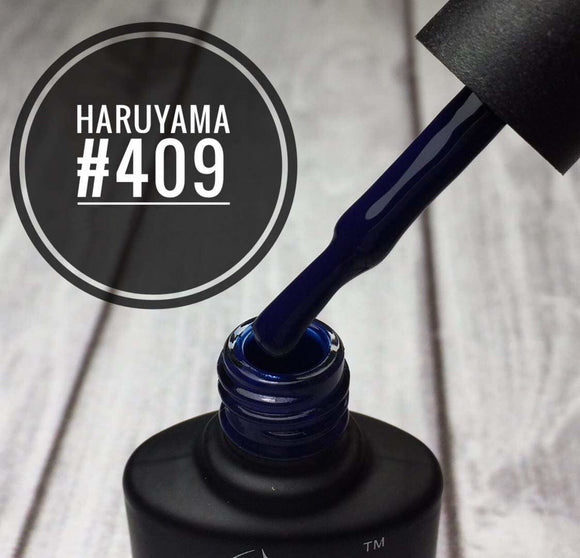 Haruyama dark blue gel nail polish 409 for Russian manicures and pedicures