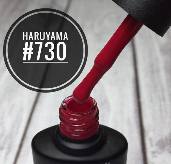 Haruyama Red gel nail polish 730 for Russian manicures and pedicures