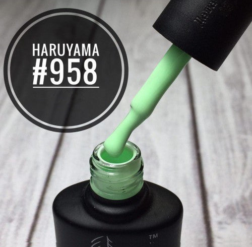 Haruyama light green gel nail polish for Russian manicures and pedicures