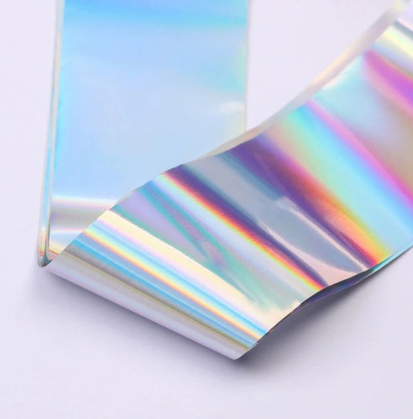 Holographic nail art foil for manicures and pedicures