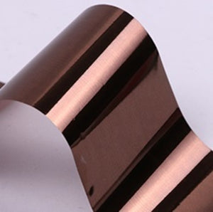 Brown chocolate foil for nails to use in manicures and pedicures