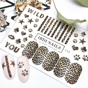 Fun and playful leopard print sliders and decals