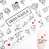 Super cute valentines day cat nail decals