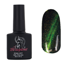 Haruyama green cat eye gel polish MA011