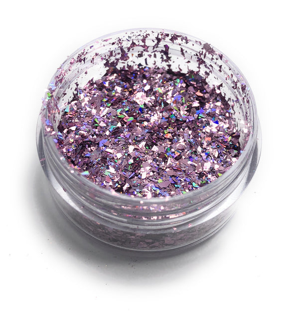 Pink nail art glitter for manicures and pedicures