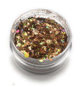 NOCTIS Copper glitter for manicures and pedicures