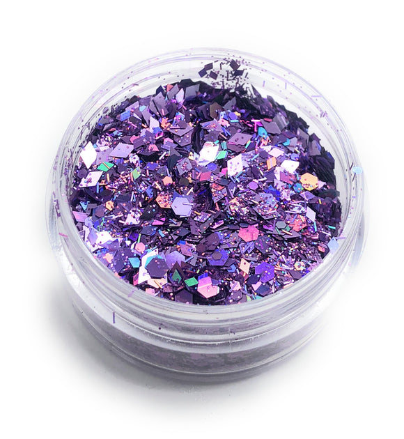 NOCTIS Purple nail art glitter for manicures and pedicures