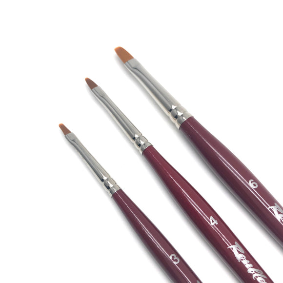 Roubloff GN33R Russian nail art brushes for manicures and pedicures