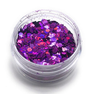 NOCTIS Purple nail glitter for manicures and pedicures