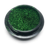 NOCTIS Green metallic nail powder for manicures and pedicures