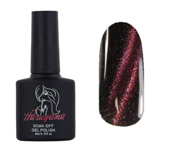 Purple cat eye gel nail polish MA011