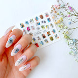 Slider.RF Flower and leaf nail decals / sliders