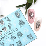 Beautiful animal decal and slider for manicures and pedicures
