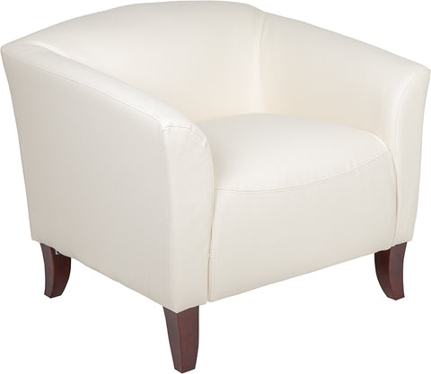 Ivory Leather Chair