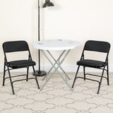 Black Fabric Metal Chair