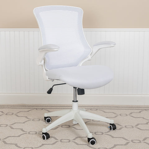 White Mesh Mid-back Desk Chair