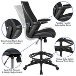 Black Mesh Drafting Chair