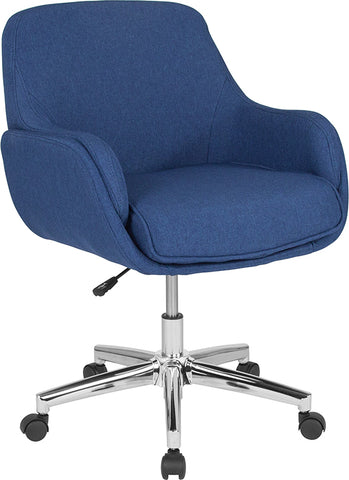 Blue Fabric Mid-back Chair