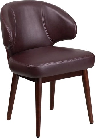 Burgundy Leather Side Chair