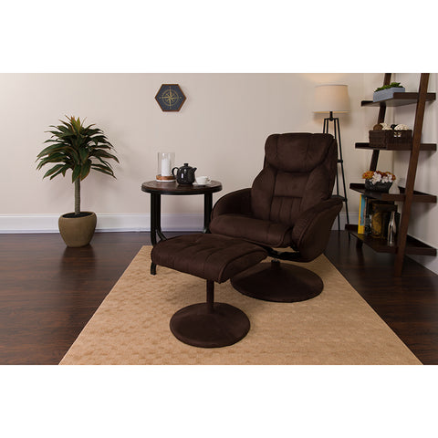 Brown Microfiber Recliner