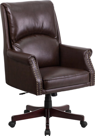 Brown High Back Leather Chair