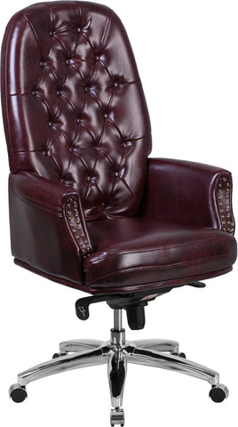 Burgundy High Back Chair