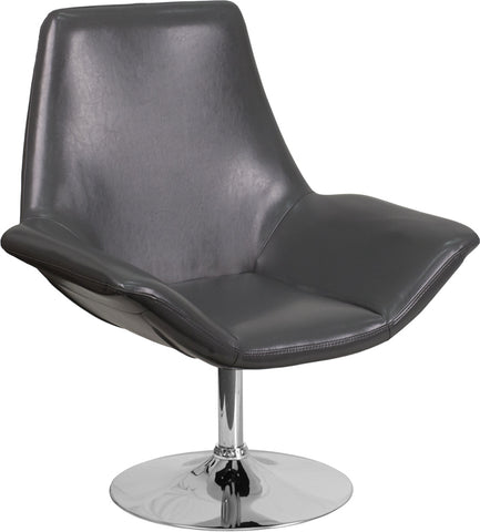 Gray Leather Reception Chair