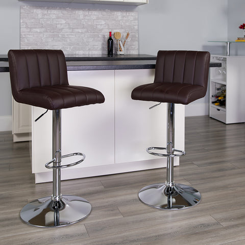 Brown Vinyl Barstool