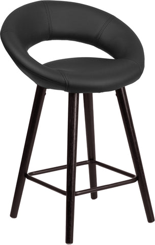"24""h Black Vinyl Counter Stool"