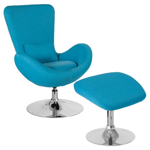 Aqua Fabric Reception Chair