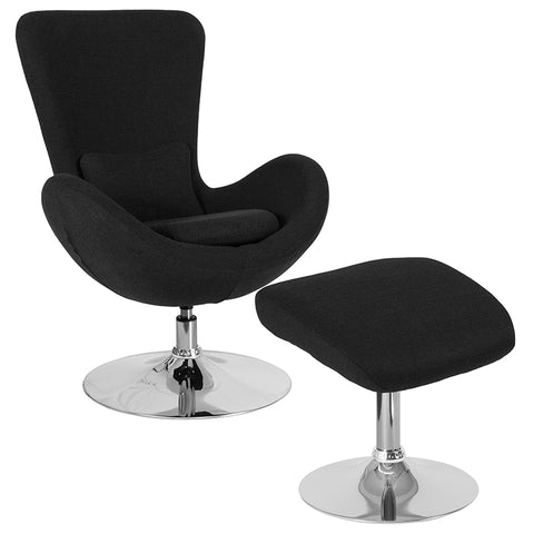 Black Fabric Reception Chair