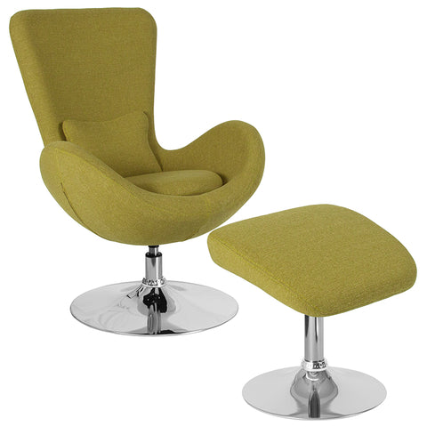 Green Fabric Reception Chair