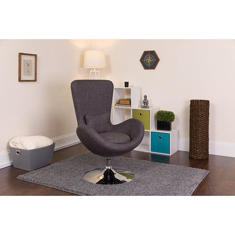 Gray Fabric Egg Series Chair