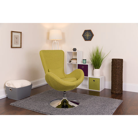 Green Fabric Egg Series Chair