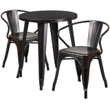 24rd Aged Black Table Set