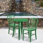 24rd Green Metal Table Set