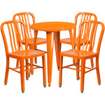 24rd Orange Metal Table Set