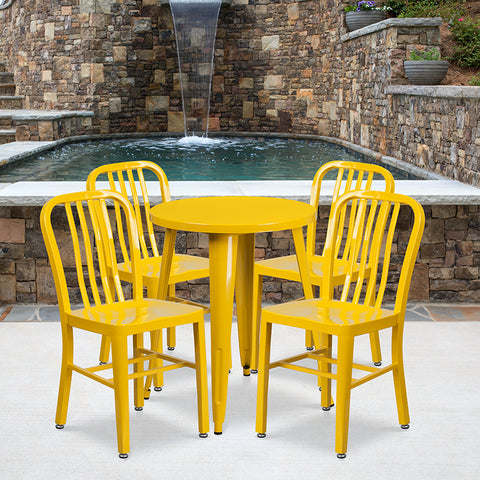 24rd Yellow Metal Table Set