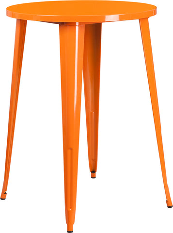 30rd Orange Metal Bar Table