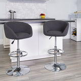 Charcoal Fabric Barstool