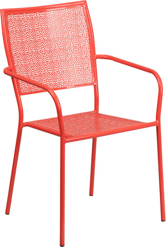 Coral Square Back Patio Chair